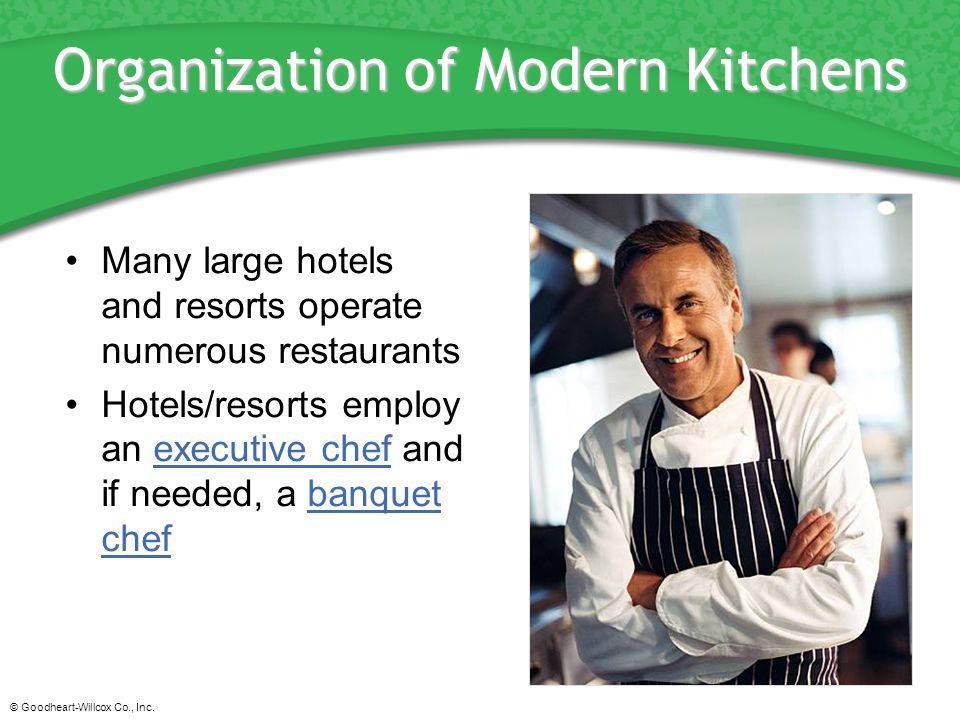 Organization of Modern Kitchens