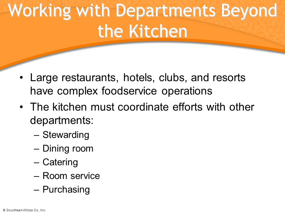 Working with Departments Beyond the Kitchen