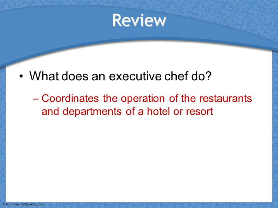 Review What does an executive chef do