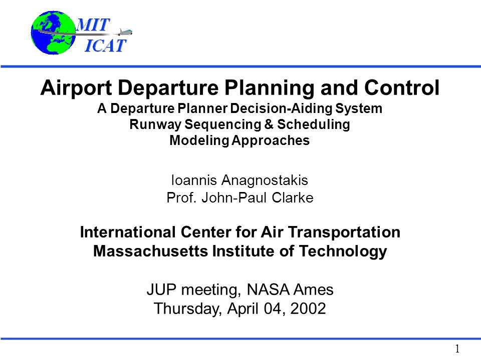 Airport Departure Planning and Control