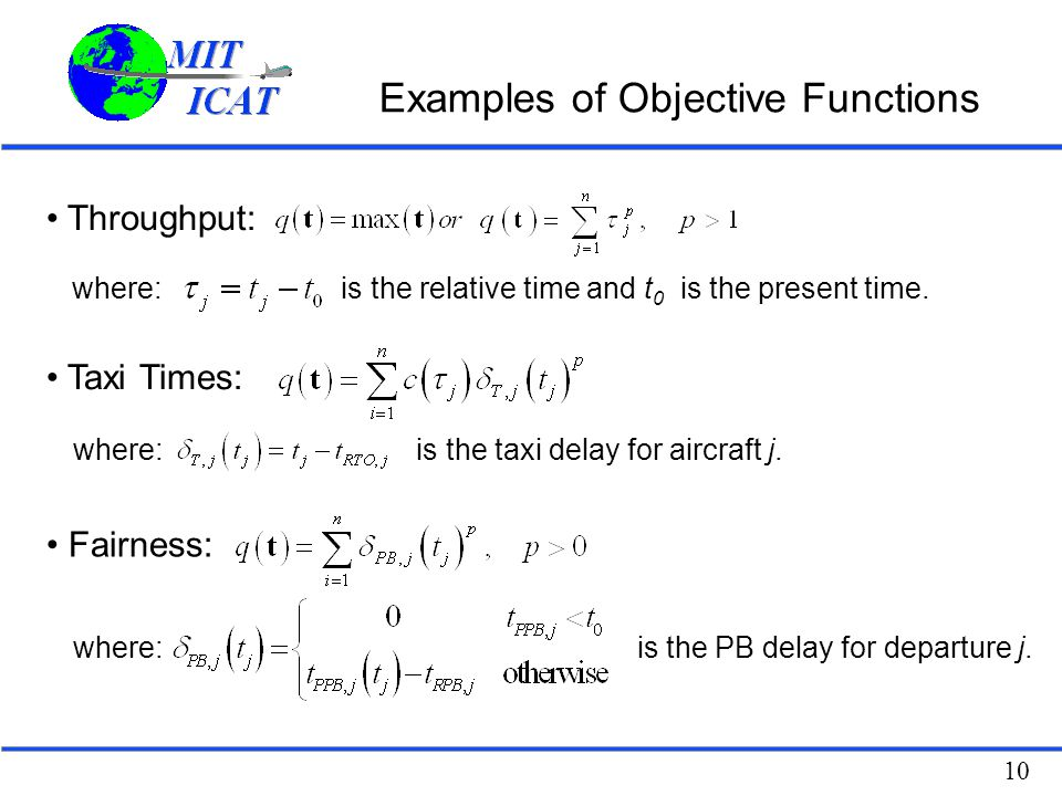 Examples of Objective Functions