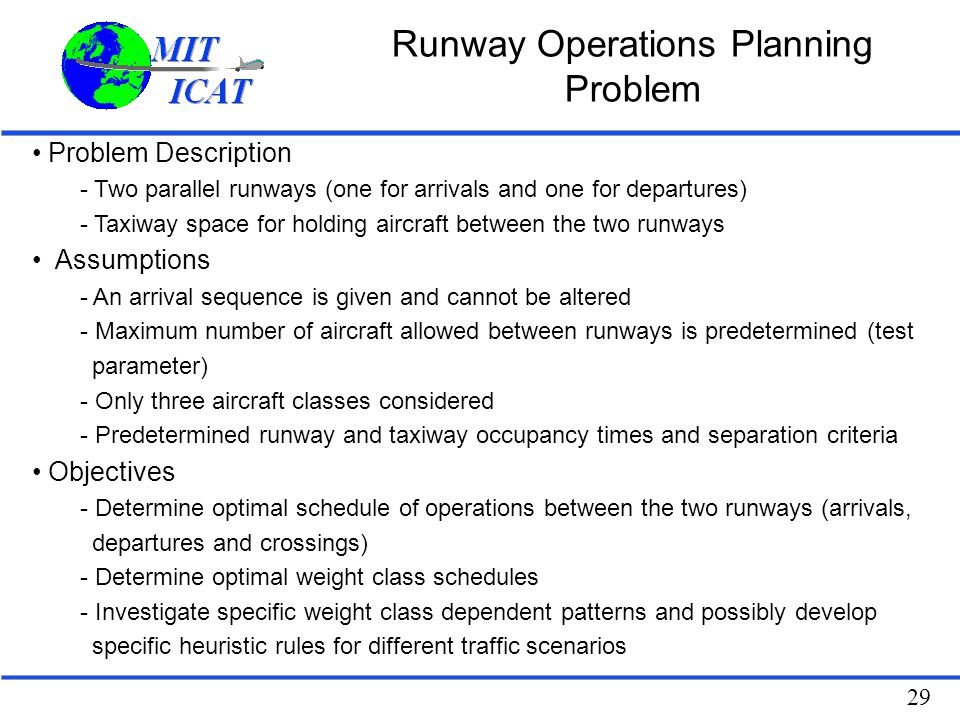 Runway Operations Planning Problem