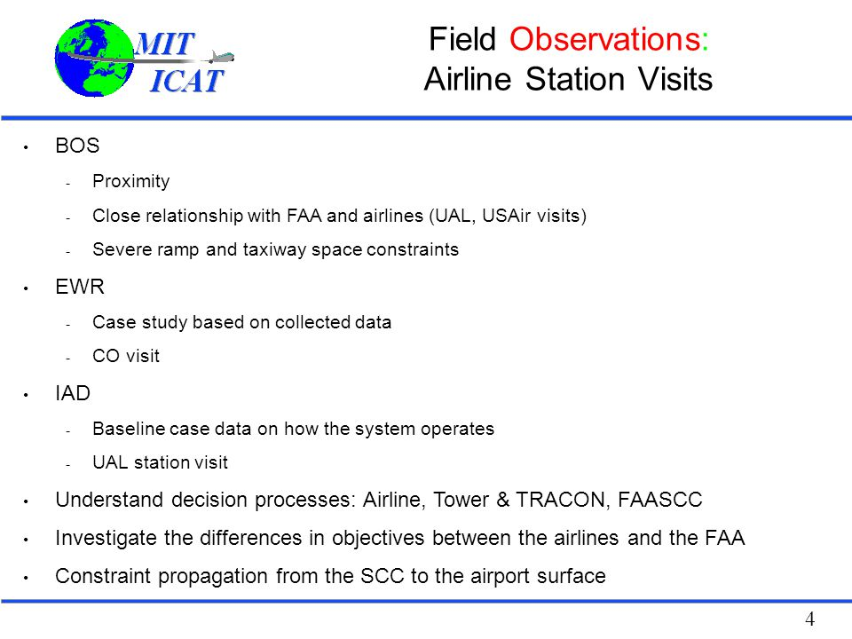 Field Observations: Airline Station Visits