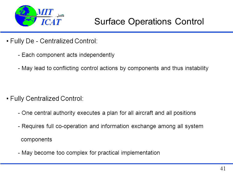 Surface Operations Control