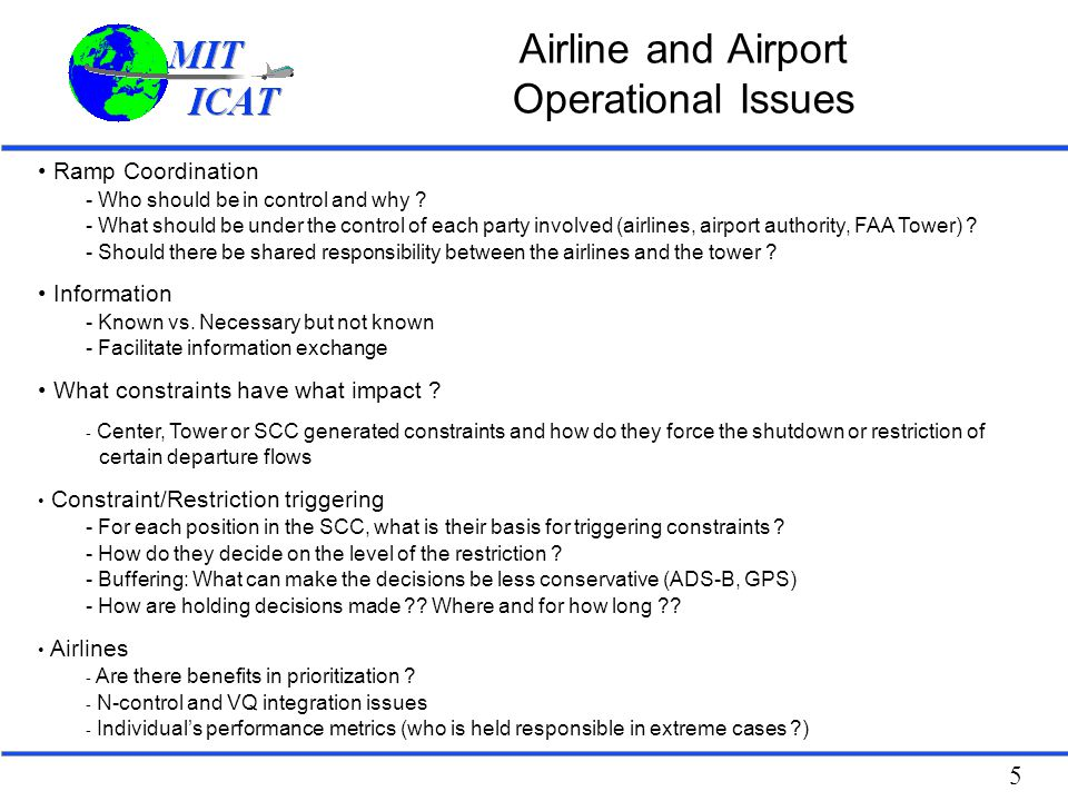 Airline and Airport Operational Issues