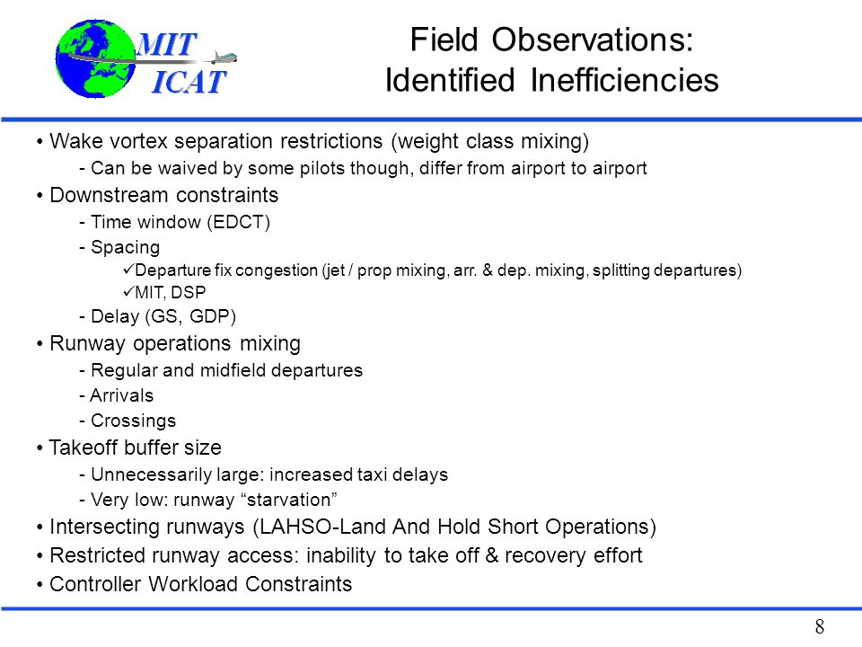 Field Observations: Identified Inefficiencies