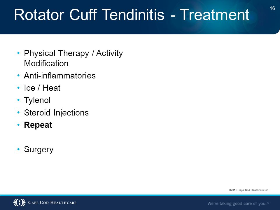 Rotator Cuff Tendinitis - Treatment