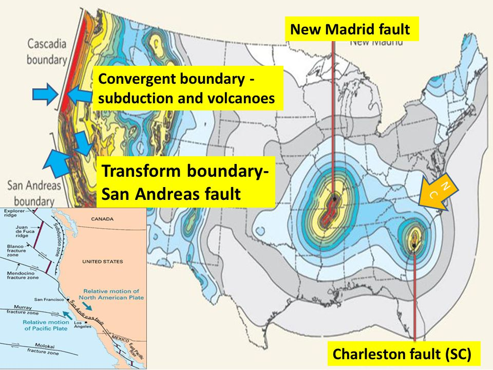 Transform boundary-San Andreas fault