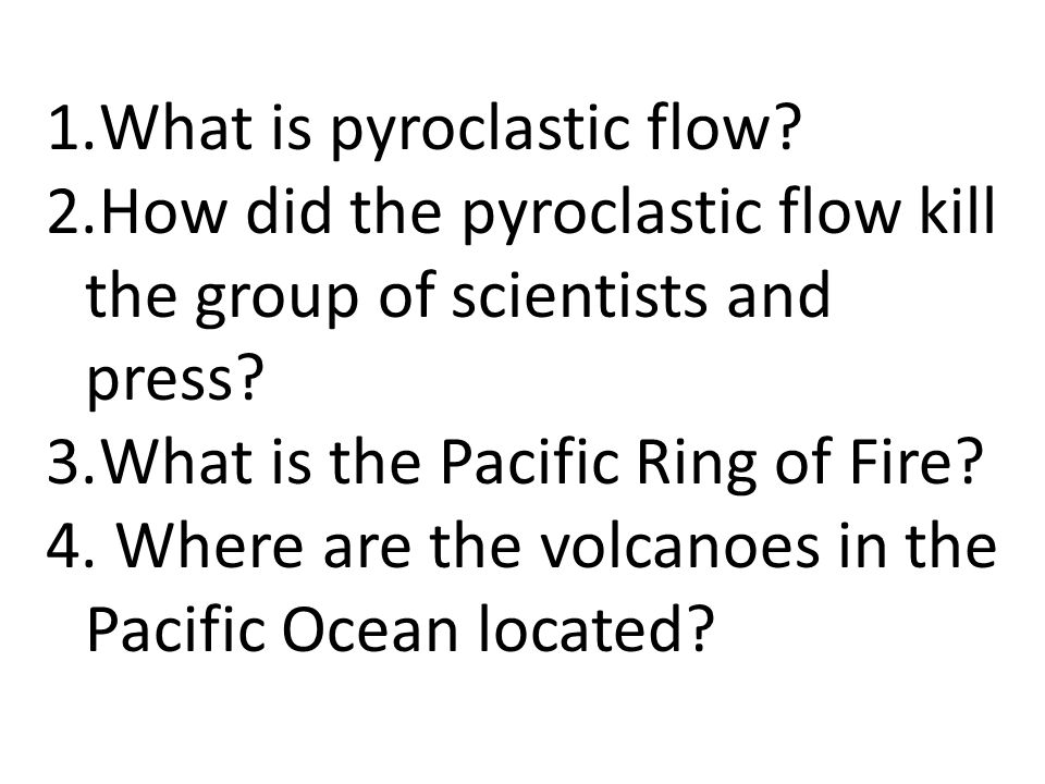 What is pyroclastic flow
