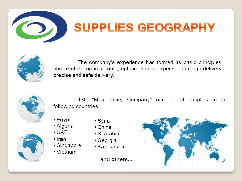 SUPPLIES GEOGRAPHY