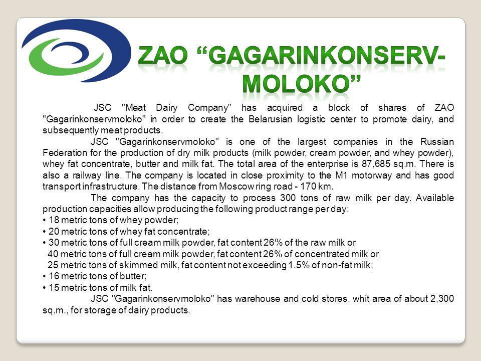 ZAO GAGARINKONSERV- MOLOKO