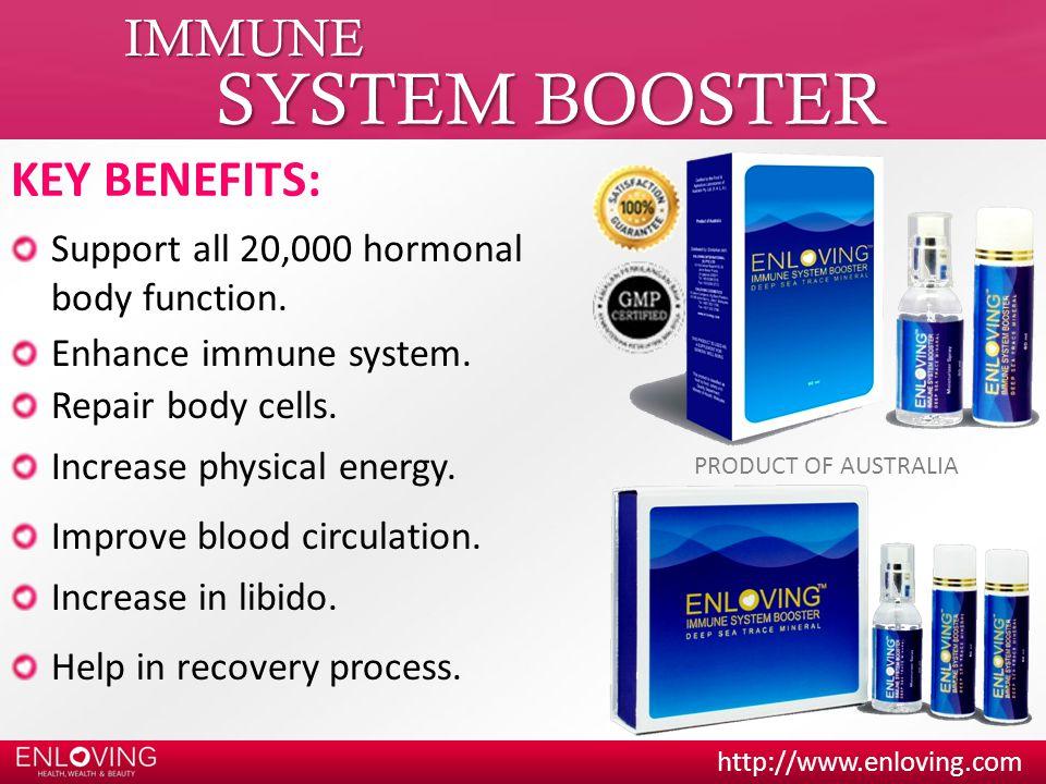SYSTEM BOOSTER IMMUNE KEY BENEFITS: