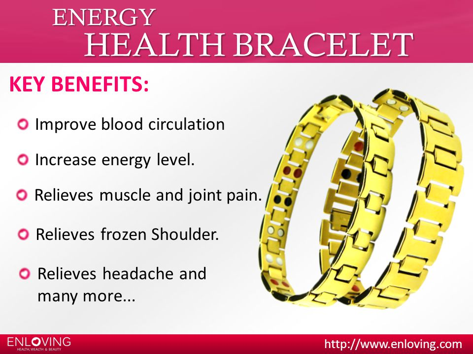 HEALTH BRACELET ENERGY KEY BENEFITS: Improve blood circulation