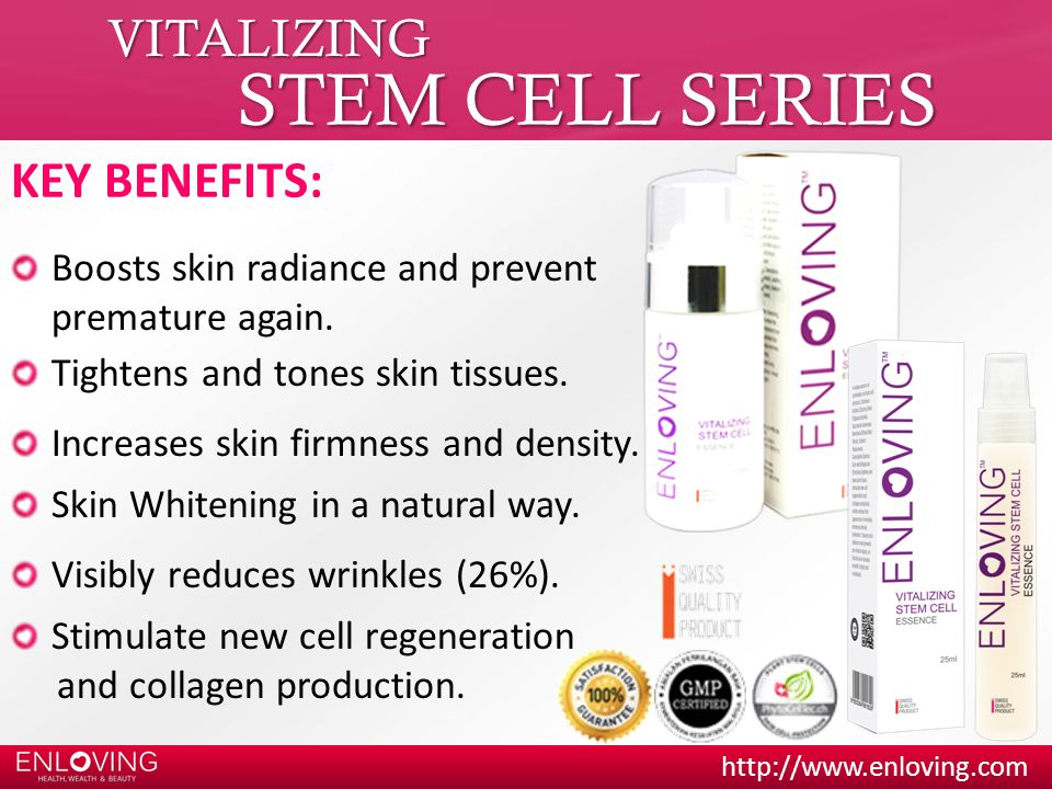 STEM CELL SERIES VITALIZING KEY BENEFITS: