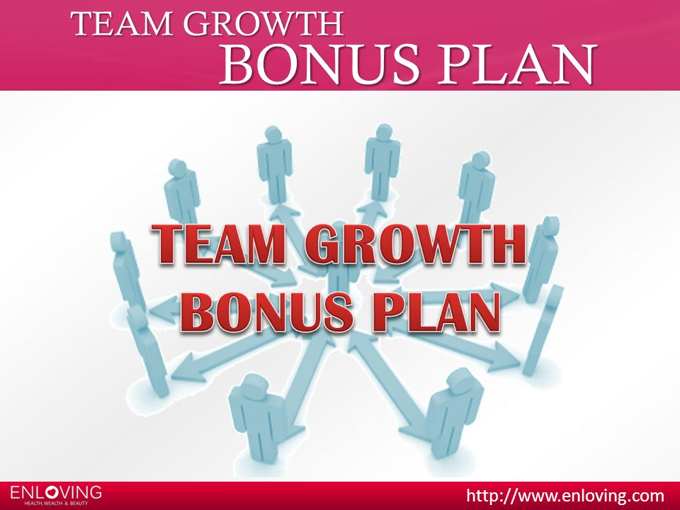 TEAM GROWTH BONUS PLAN TEAM GROWTH BONUS PLAN