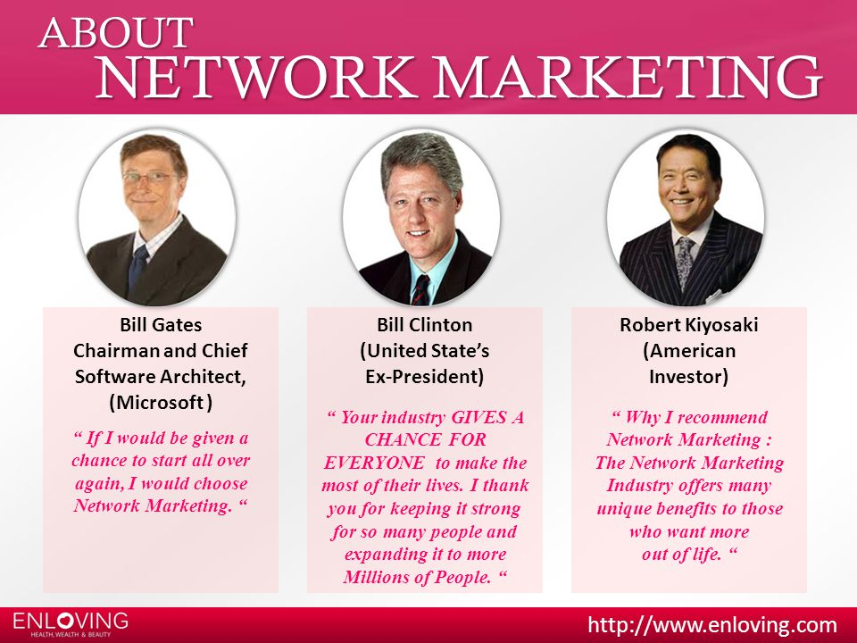NETWORK MARKETING ABOUT Bill Gates