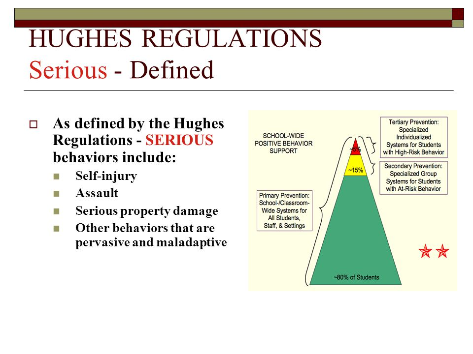 HUGHES REGULATIONS Serious - Defined