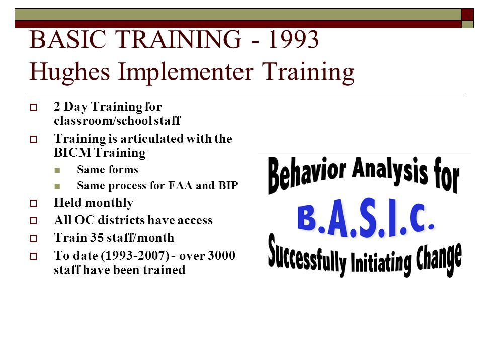 BASIC TRAINING - 1993 Hughes Implementer Training