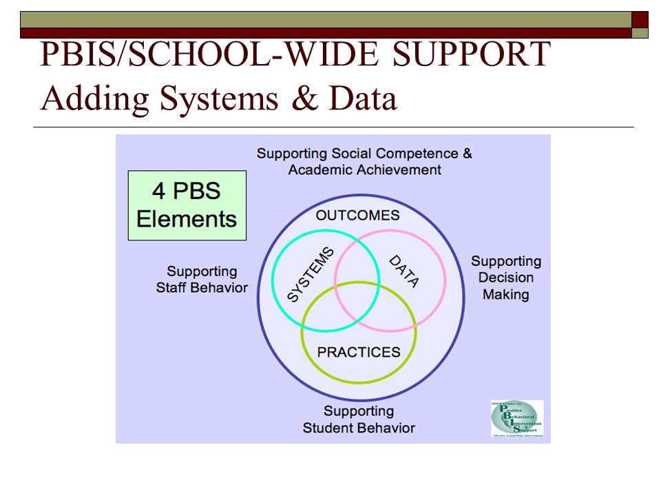 PBIS/SCHOOL-WIDE SUPPORT Adding Systems & Data