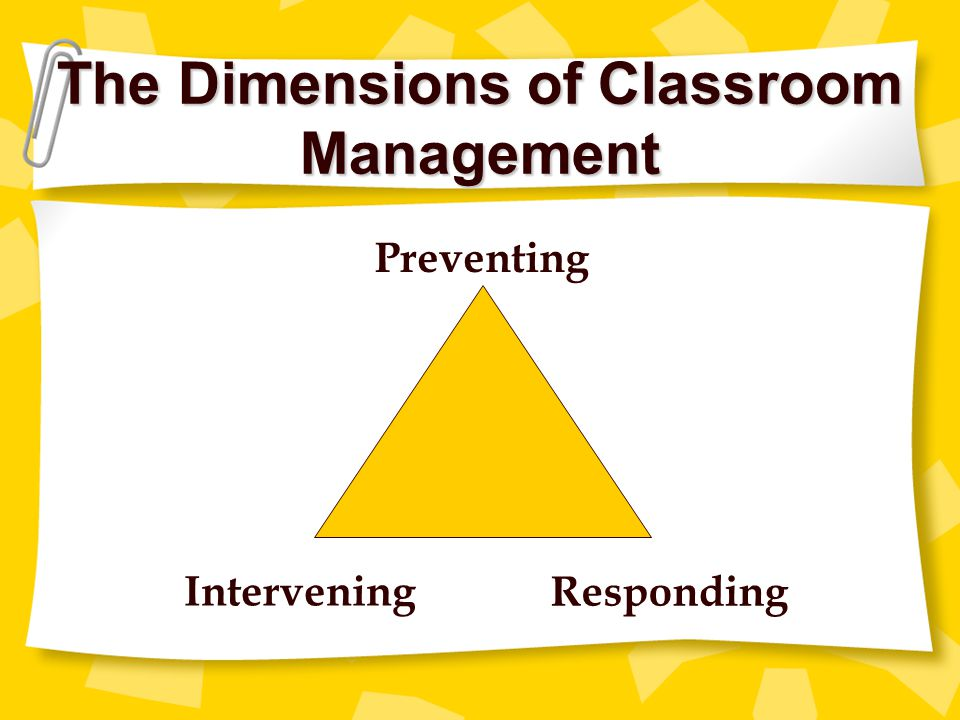 The Dimensions of Classroom Management