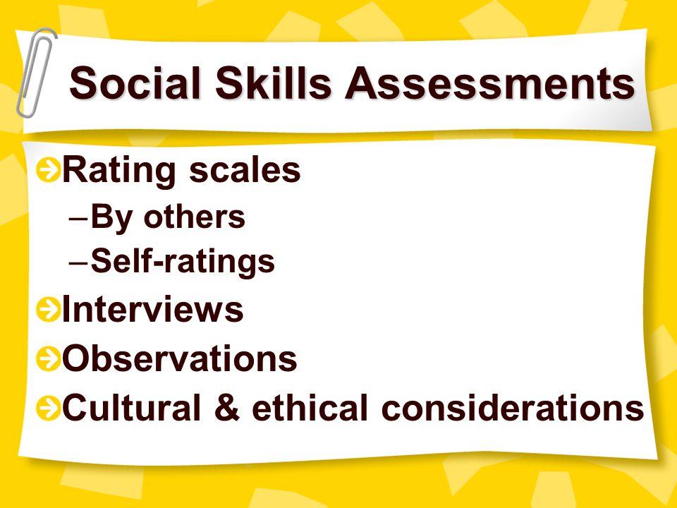 Social Skills Assessments