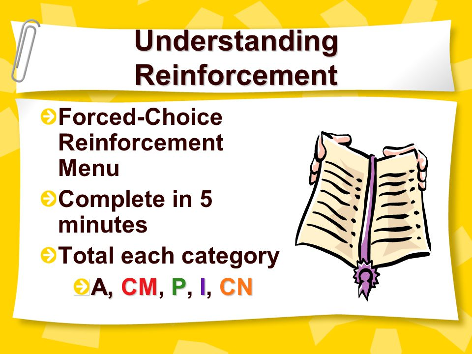 Understanding Reinforcement