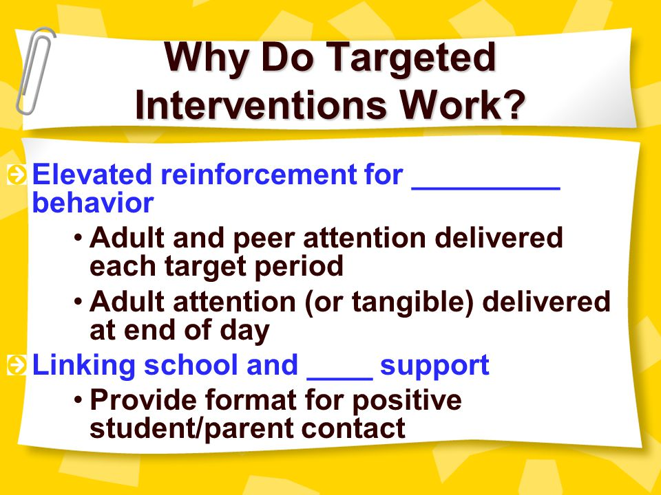Why Do Targeted Interventions Work