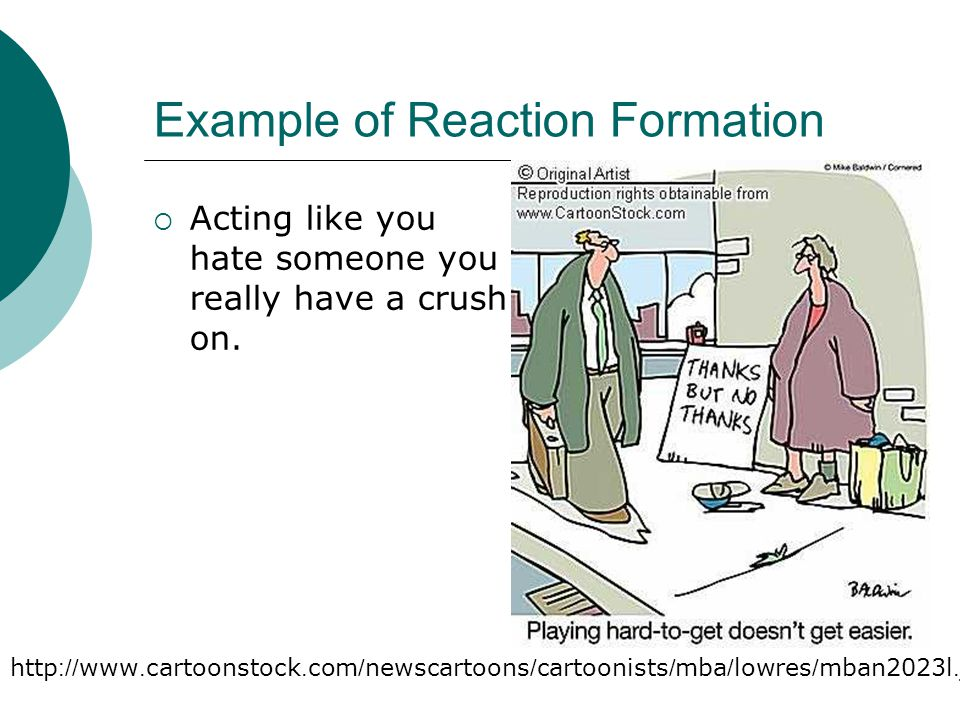 Example of Reaction Formation