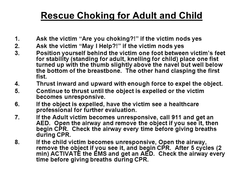 Rescue Choking for Adult and Child