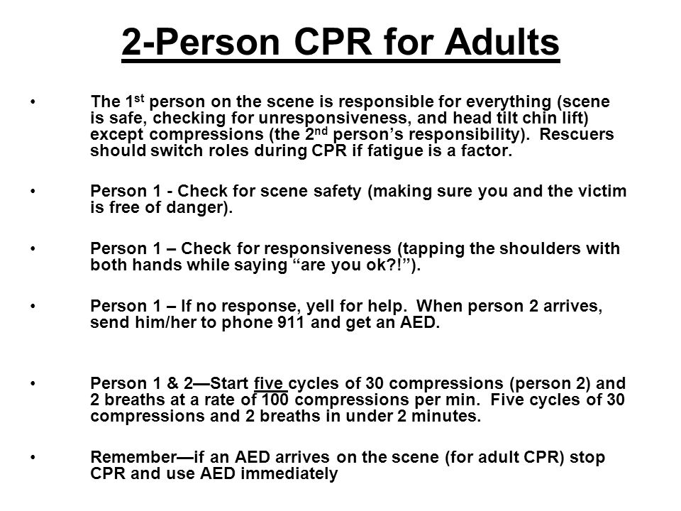 2-Person CPR for Adults