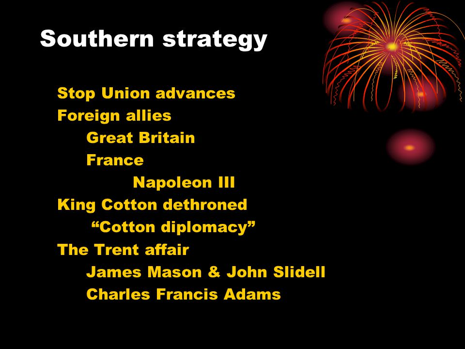 Southern strategy Foreign allies Great Britain France Napoleon III