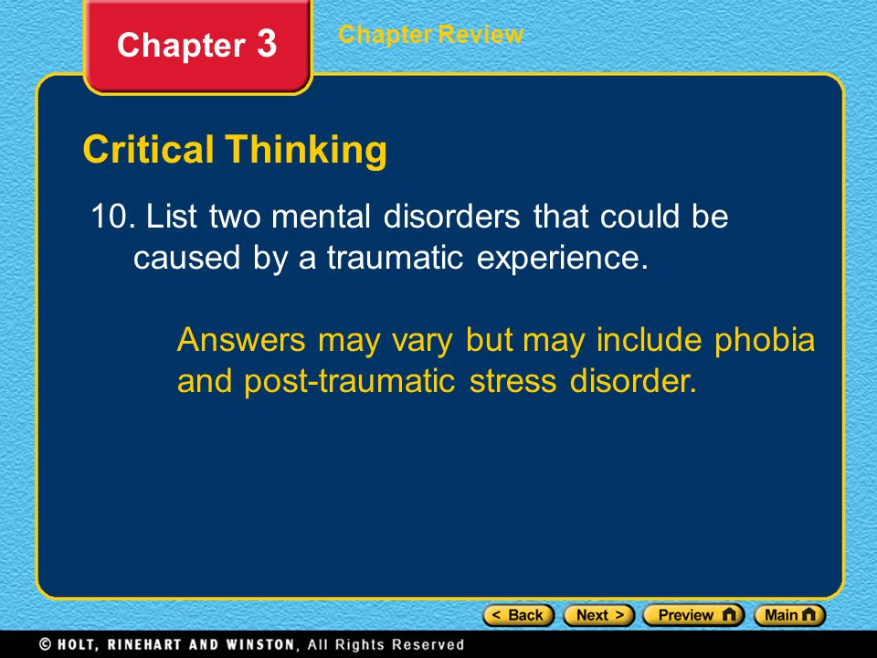 Critical Thinking Chapter 3