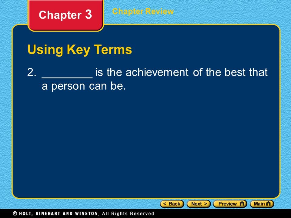 Using Key Terms Chapter 3