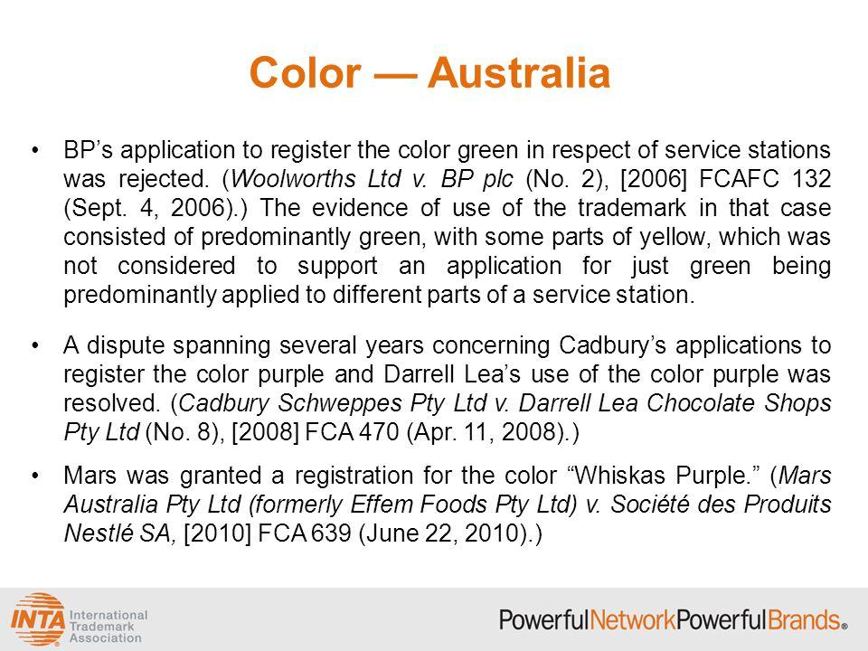 Color — Australia