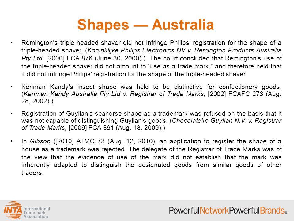 Shapes — Australia