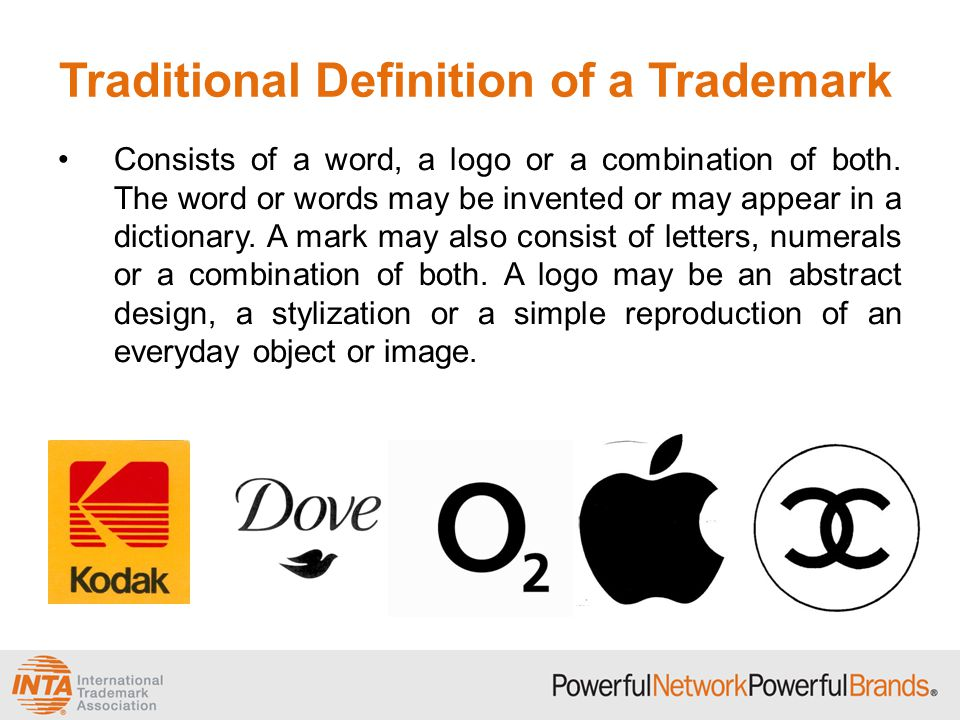 Traditional Definition of a Trademark