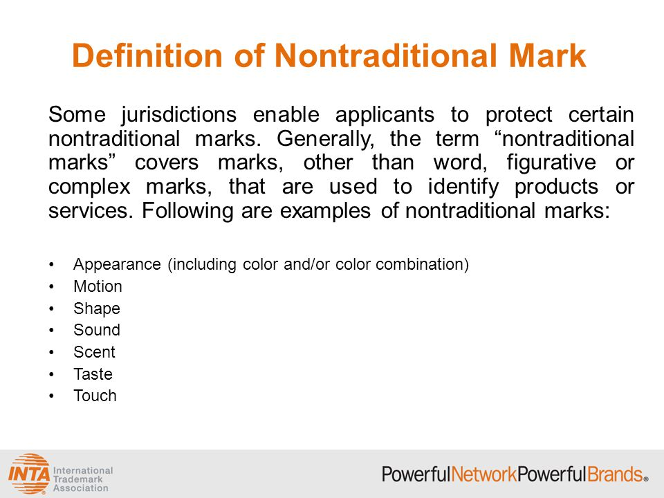 Definition of Nontraditional Mark