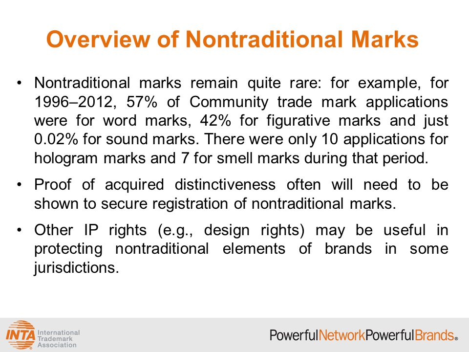 Overview of Nontraditional Marks