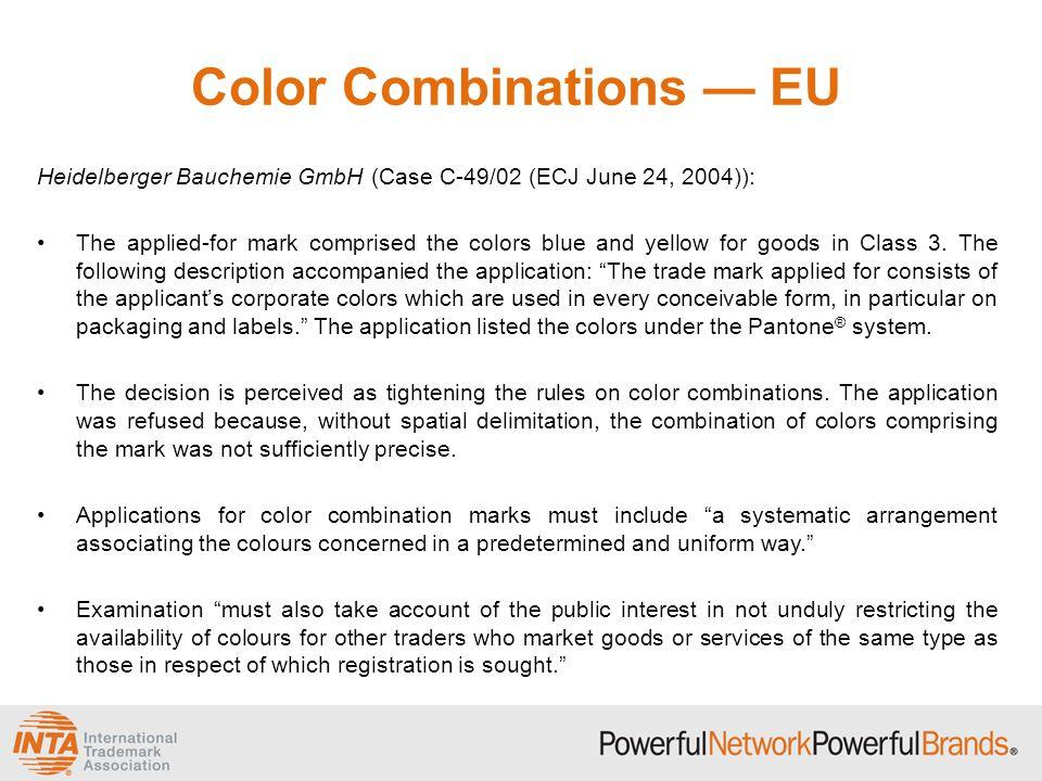 Color Combinations — EU