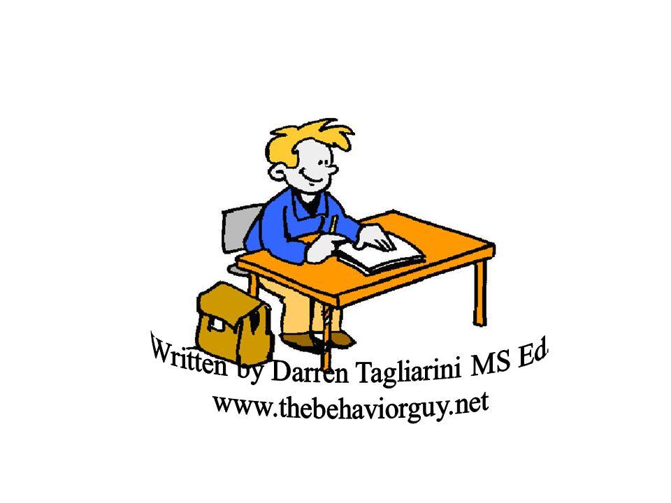 Written by Darren Tagliarini MS Ed.