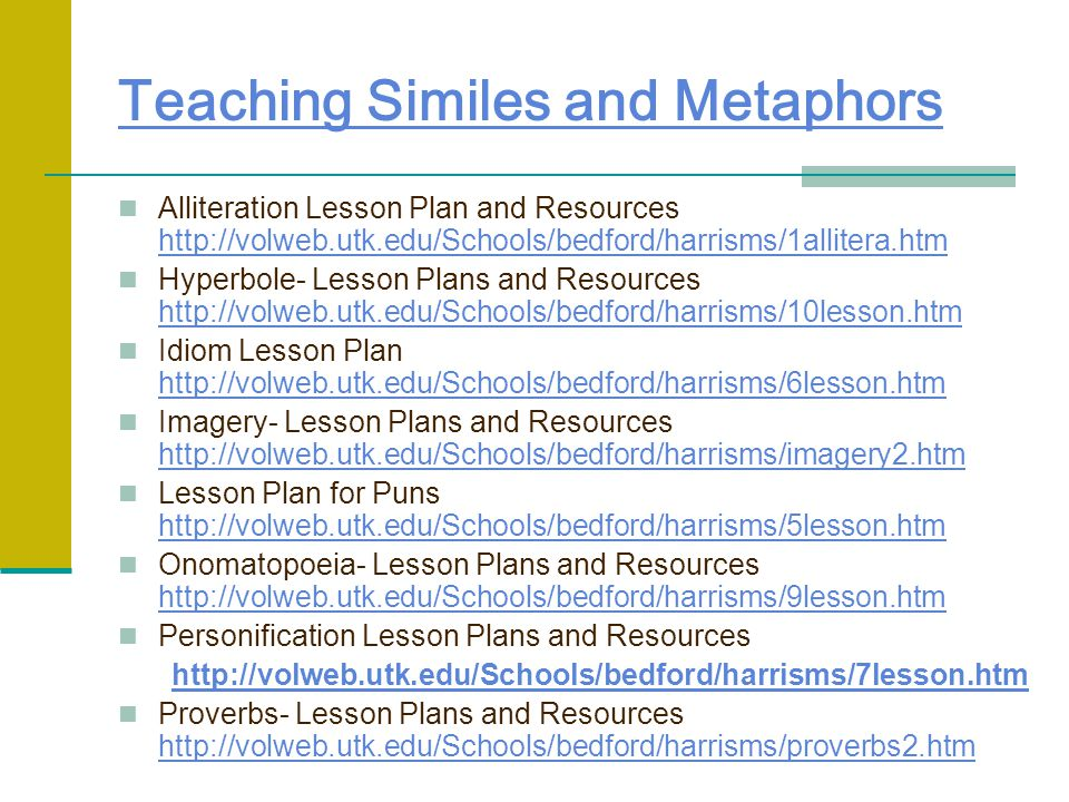 Teaching Similes and Metaphors