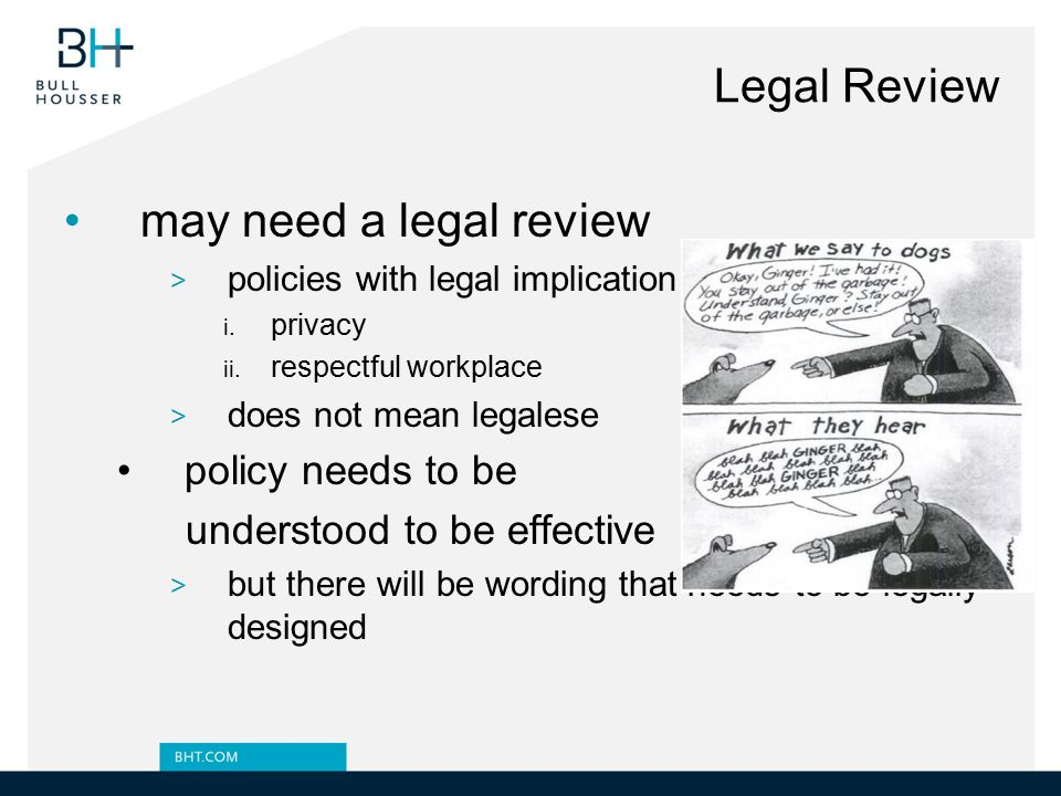 Legal Review may need a legal review policy needs to be