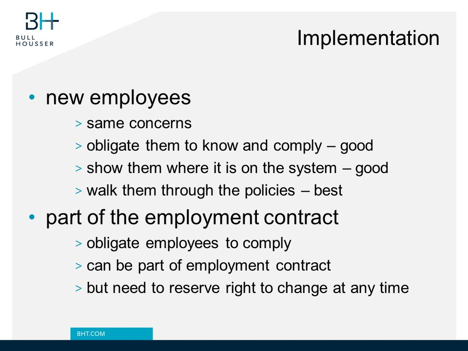 part of the employment contract