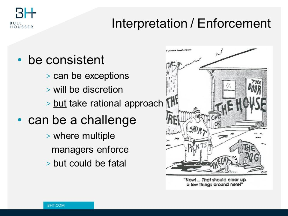 Interpretation / Enforcement
