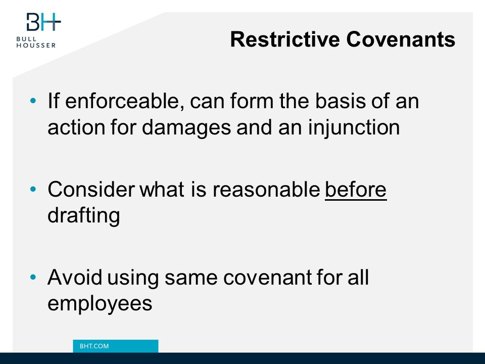 Restrictive Covenants