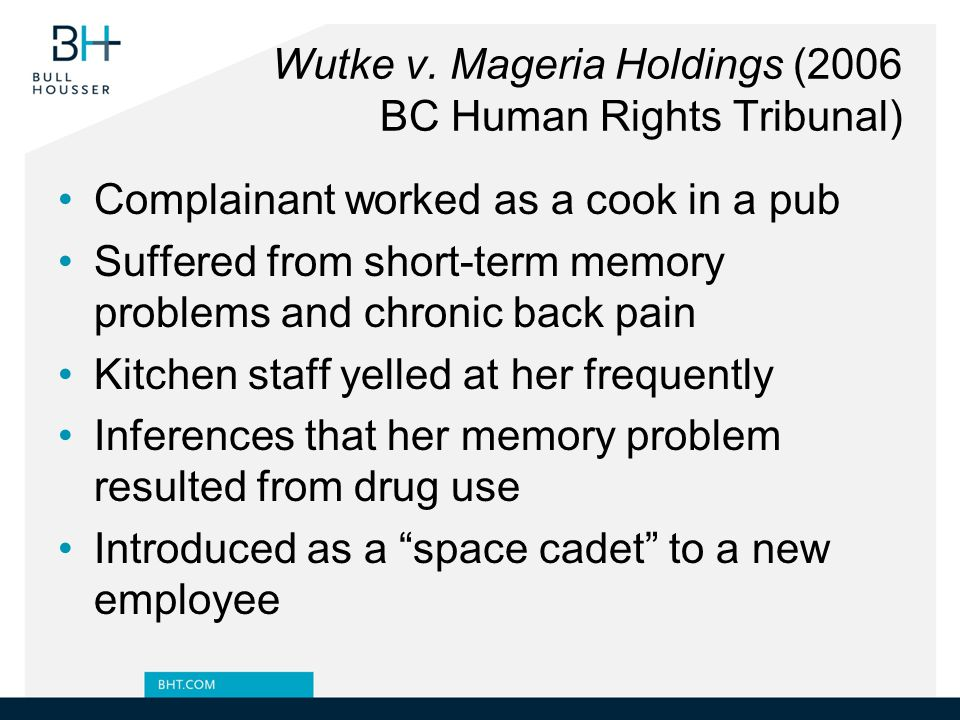 Wutke v. Mageria Holdings (2006 BC Human Rights Tribunal)