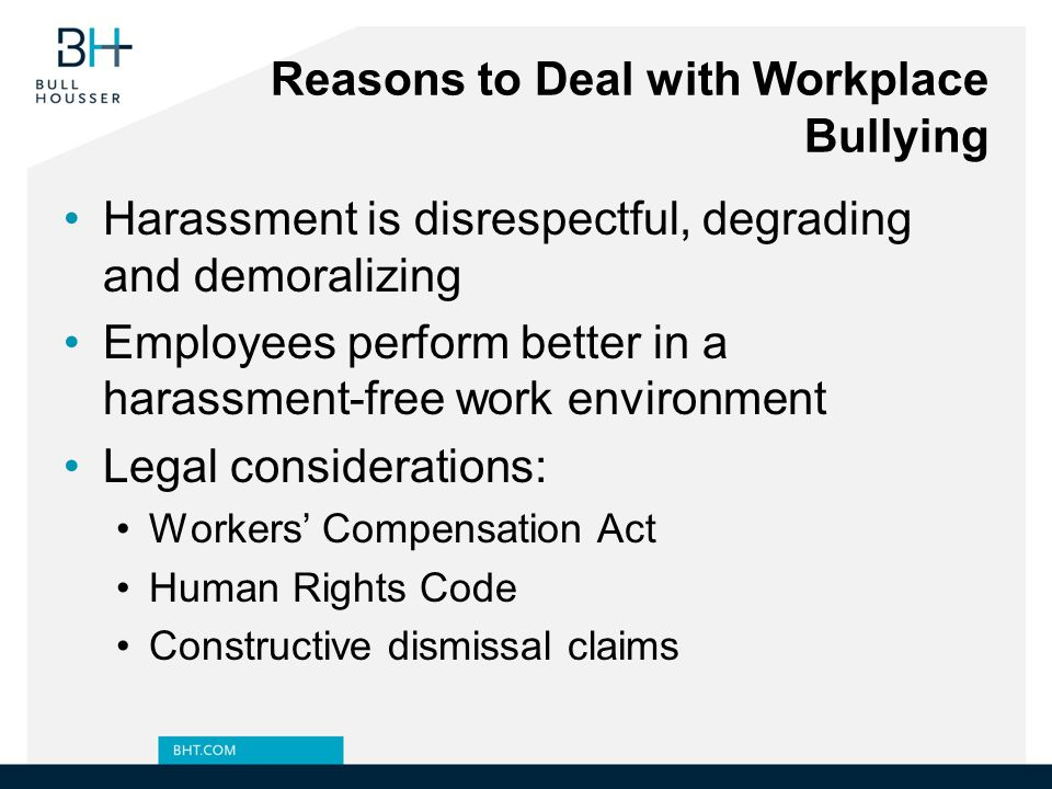 Reasons to Deal with Workplace Bullying