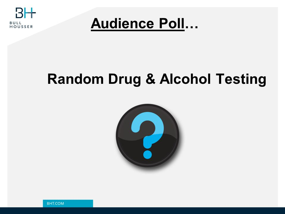 Random Drug & Alcohol Testing