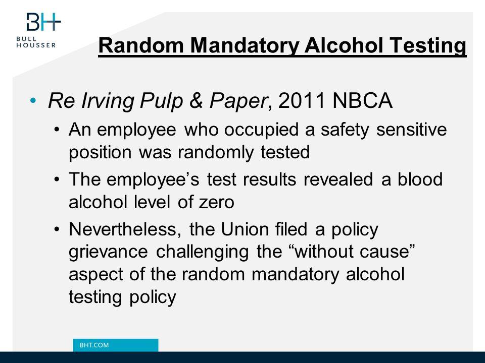 Random Mandatory Alcohol Testing