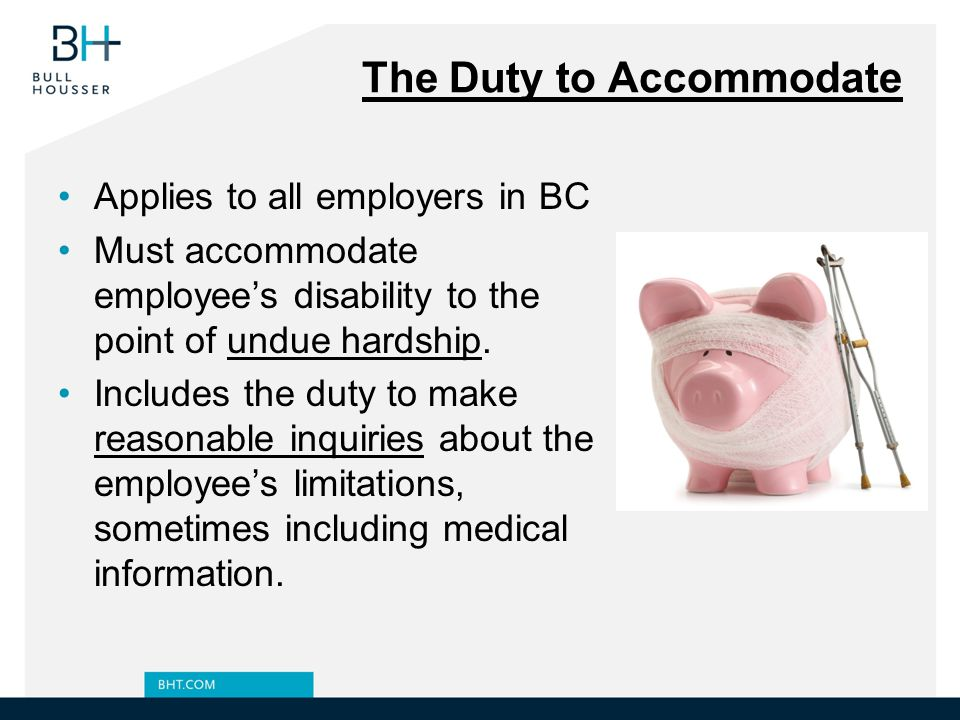 The Duty to Accommodate